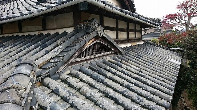 松山市古三津の築100年の本格日本瓦葺き伝統建築家屋 外観その⑤