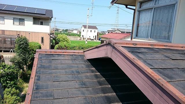 雨漏り箇所(棟違い