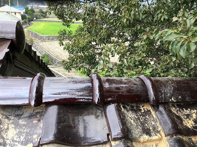 今治市O様住宅に強風で大木が当たり片流れ棟を破損した現場修理その③