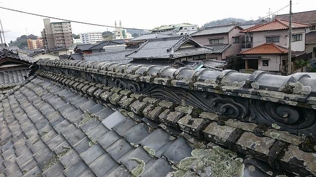 松山市古三津の築100年の本格日本瓦葺き伝統建築家屋 外観その⑦