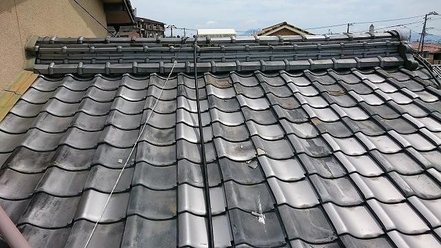 屋根面と棟