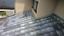 完工前の屋根