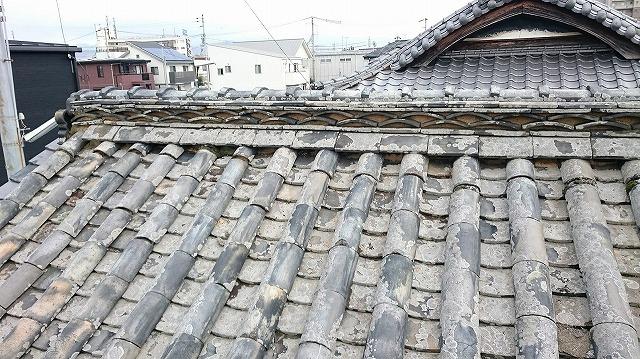 松山市古三津の築100年の本格日本瓦葺き伝統建築家屋 外観その③