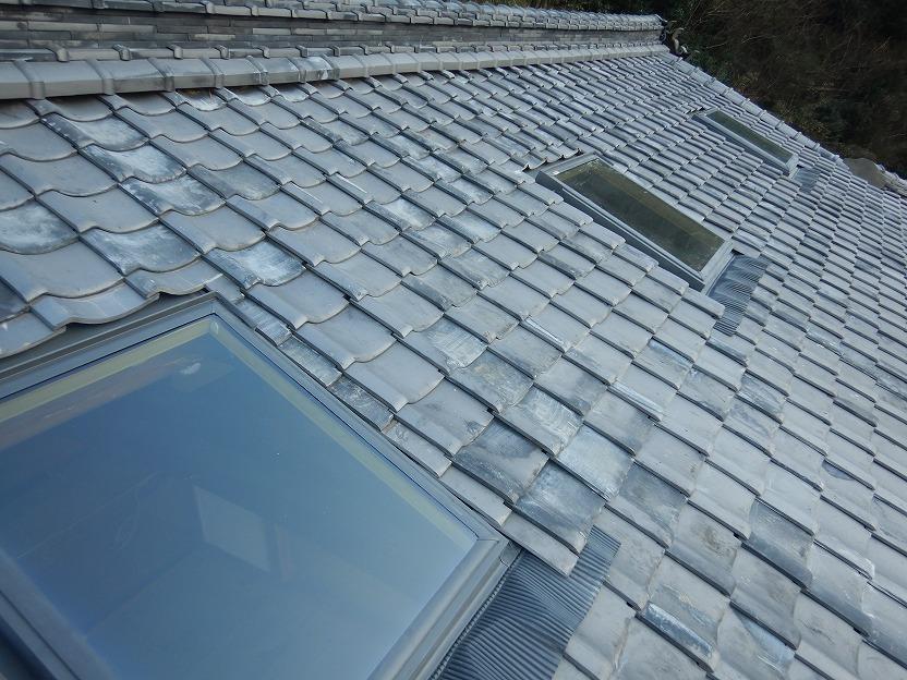 天窓を取り付けた屋根面の全体写真