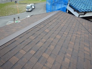 屋根のカバー工事が完工した時の写真