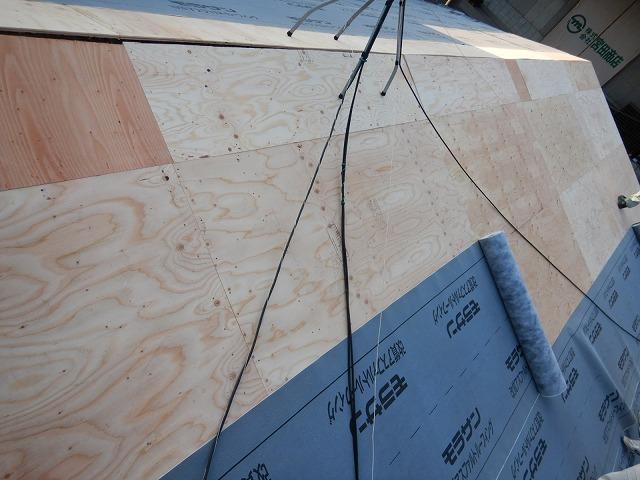 構造用合板を施工した時の写真