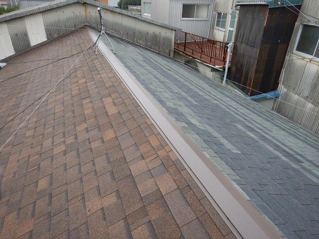 屋根棟部から撮った写真