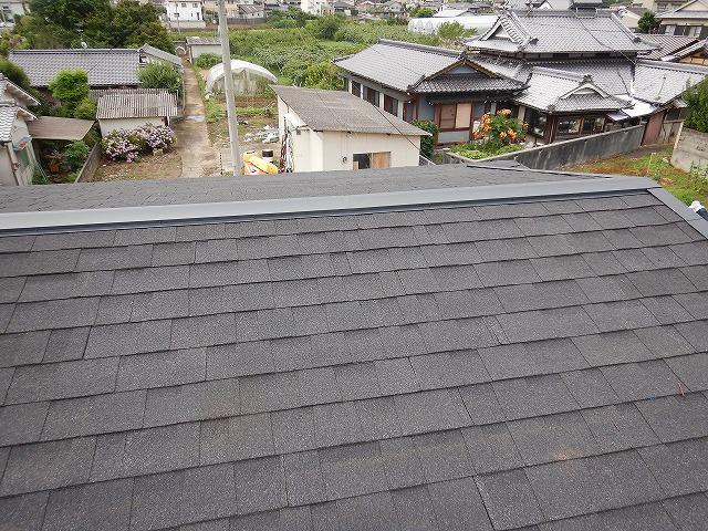 二階屋根の平面部の写真1
