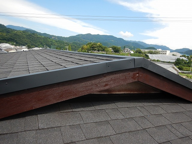 ケラバの破風板部分の完工写真