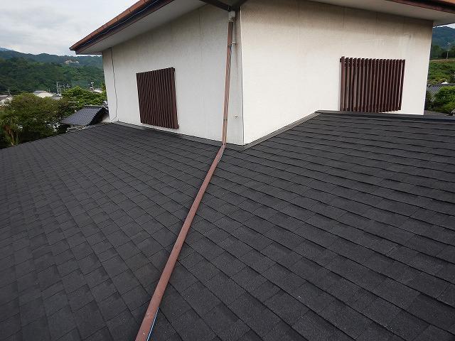 一階の屋根平面部の完工写真