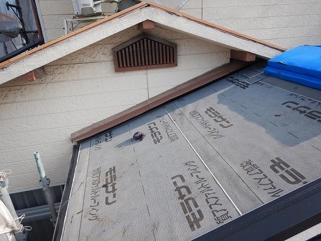 1階の防水紙の施工完了後の様子