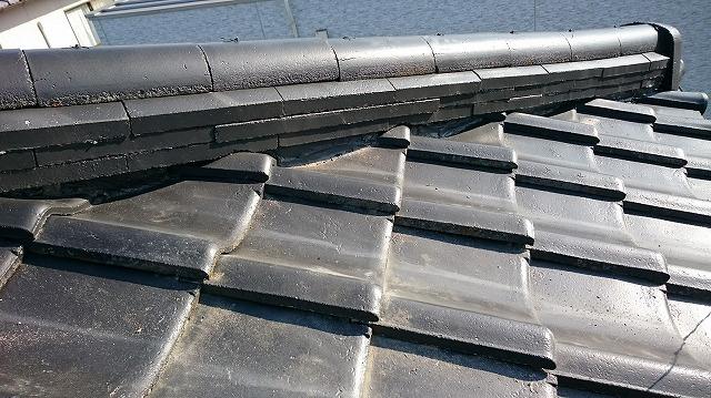 屋根に上がって見た問題個所