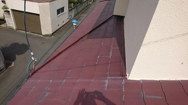 1F屋根の壁際③