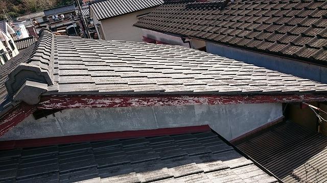 宇和島市セメント瓦平型屋根写真⑤