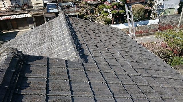宇和島市セメント瓦平型屋根全体写真⑥