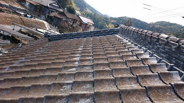 二階屋根の屋根平部の写真