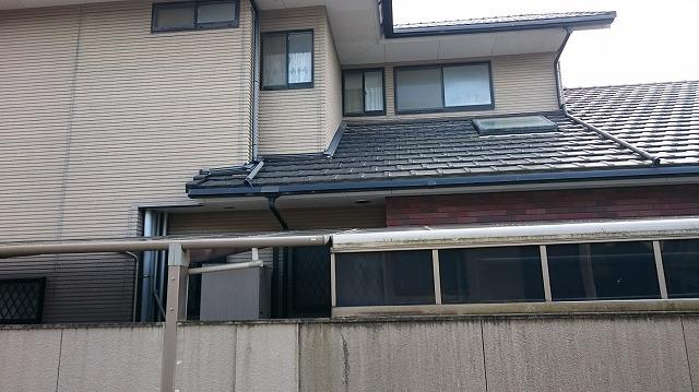 下屋根に天窓を発見