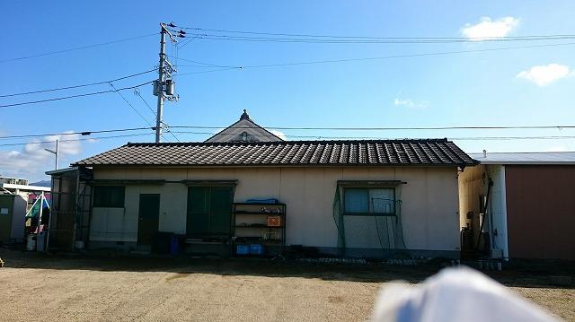 松前町鶴吉の雨漏りしている家の現場写真
