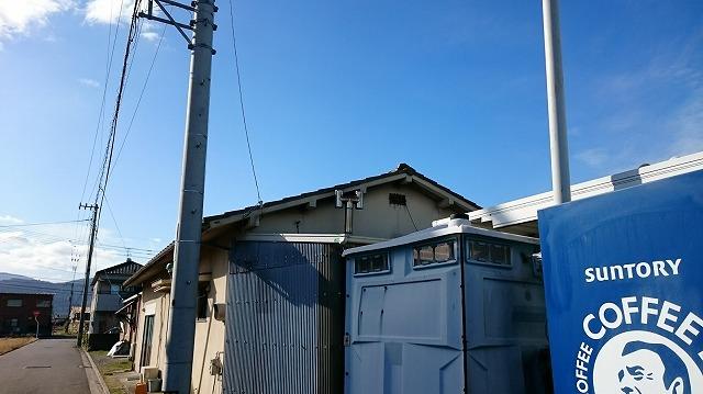 伊予郡松前町の築40年のS型スレート葺き平屋住宅の雨漏り調査