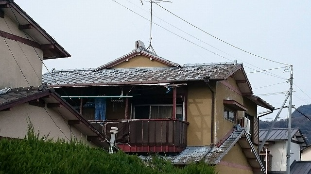 香川県高松市鬼無の現場の上屋根の写真
