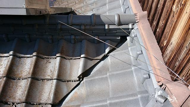 下屋根の本谷部分の写真