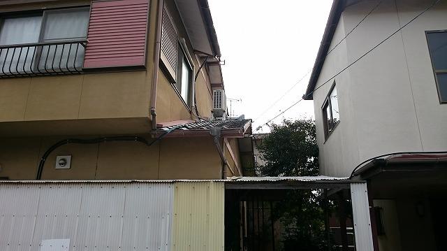 香川県高松市の在来木造一般住宅M様邸の 北面お隣との境目