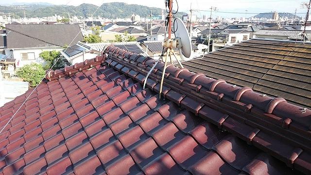 屋根棟部の写真