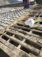 土葺き屋根の写真