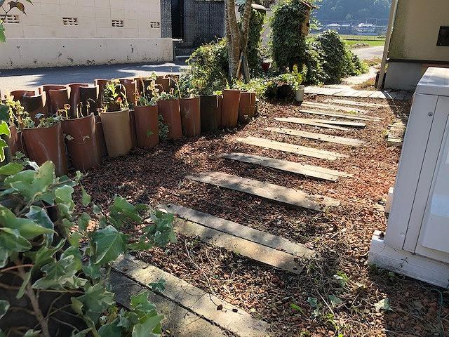 東温市下林のお家の庭
