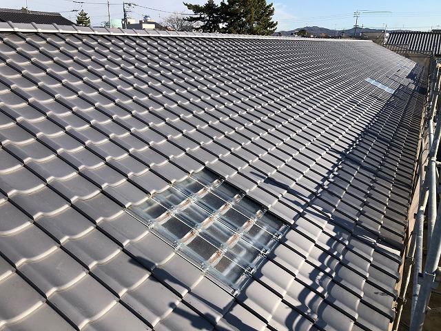 幼稚園の屋根の完工写真