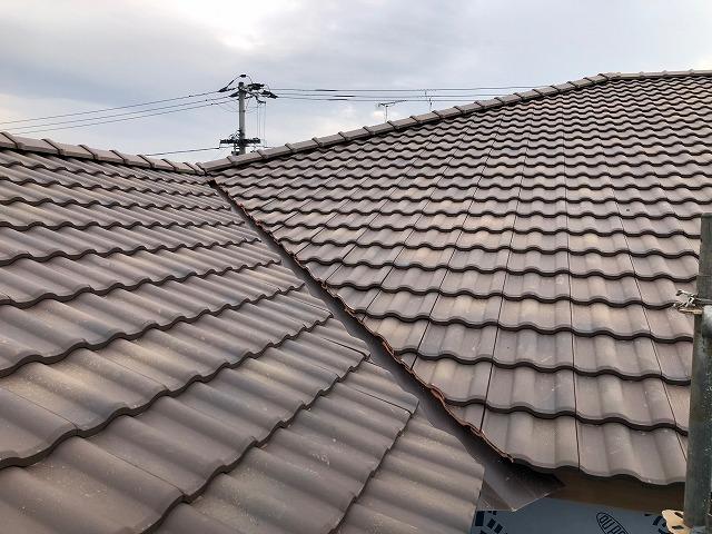 屋根の谷部の完工写真