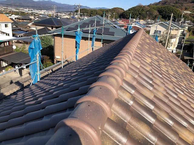 屋根棟部の完工写真