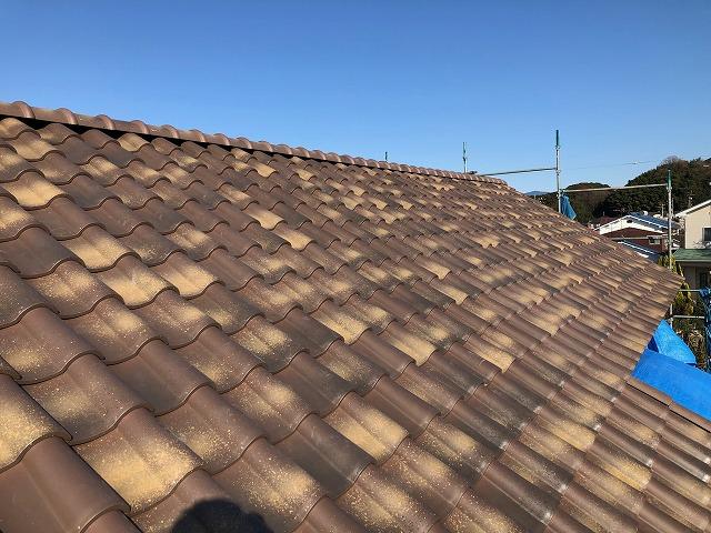 二階屋根平面部の完工写真