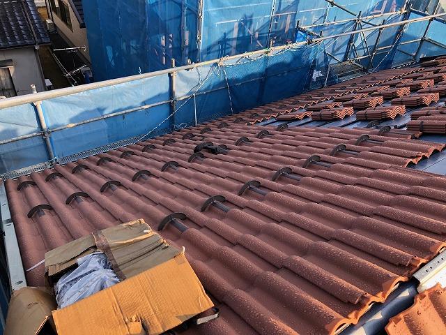 二階屋根の写真