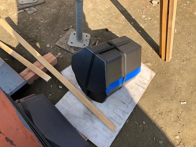 素三角棟止瓦の写真