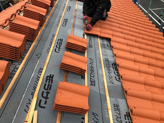 南側の屋根面の写真