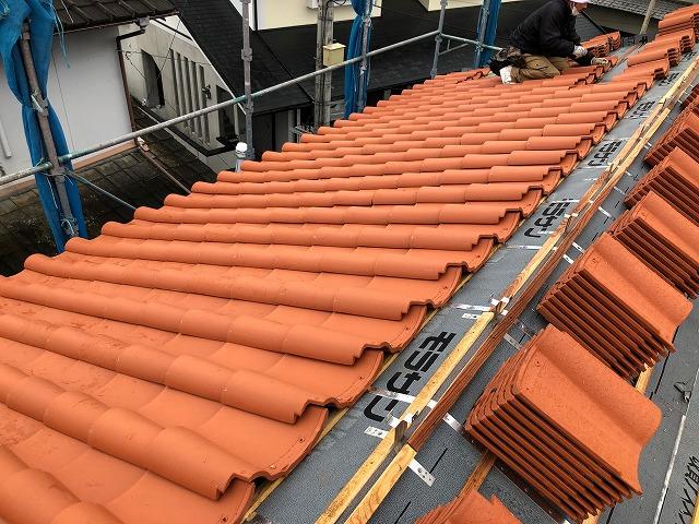 北側の屋根面の写真