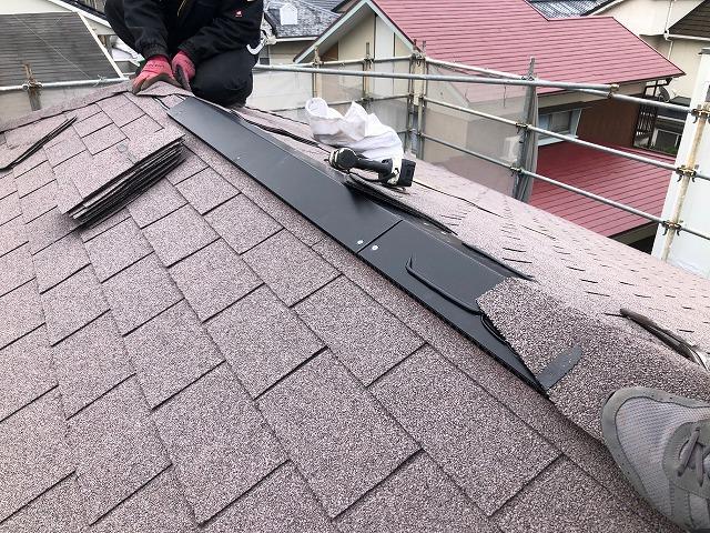 屋根大棟部の写真