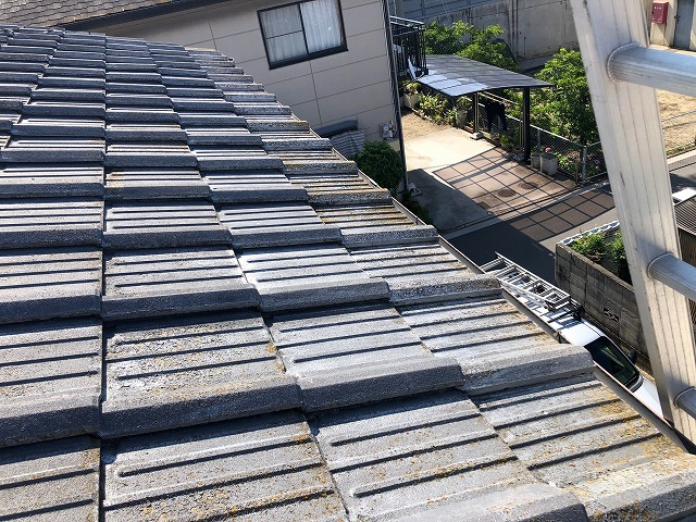 屋根軒先部の写真