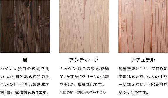 音響熟成木材の種類